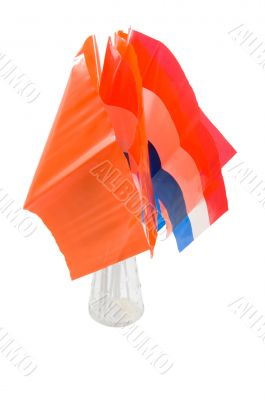 vase with dutch and orange flags in it for dutch holiday