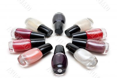 Vials colour varnish nailwaer, star six