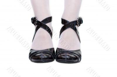 Black feminine sandals
