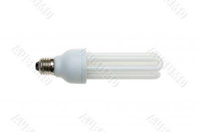 Fluorescent light bulb isolated