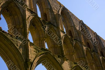 Arches on 11th century ruins