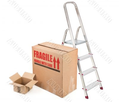fragile cardboard boxes