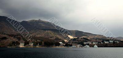 Panoramic view from Hakone lake