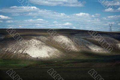 Landscape looking like moon surface