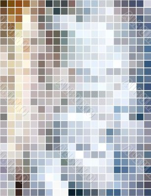 Abstract vertical square mosaic background
