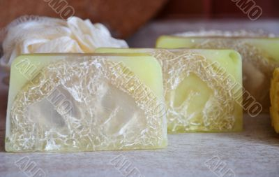Hand-made Soap And Bast Wisp