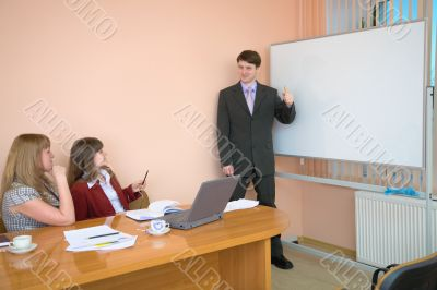 Young man to speak at a meeting