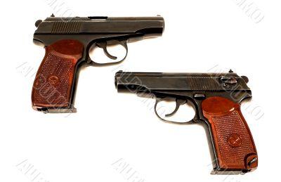 Two russian 9mm handguns