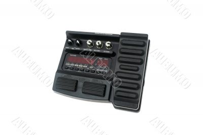 Guitar multi effects pedal isolated