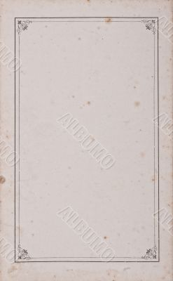 Vintage ancient blank page