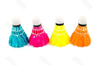 colorful badminton sports attributes