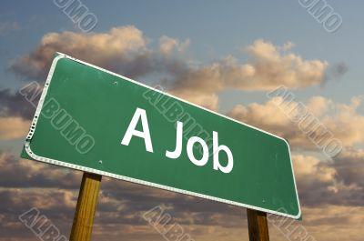 A Job Green Road Sign