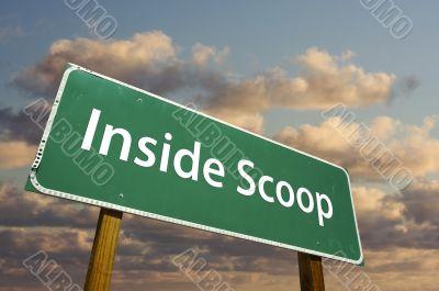Inside Scoop Green Road Sign