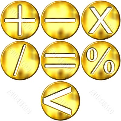 Golden Math Symbols