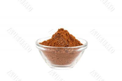 five spice powder in glass bowl