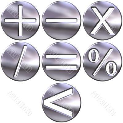 Silver Math Symbols