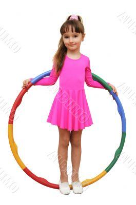 girl  fitness hoola hoop pink sport