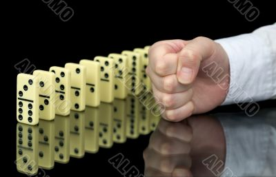 Fist a provoking domino effect