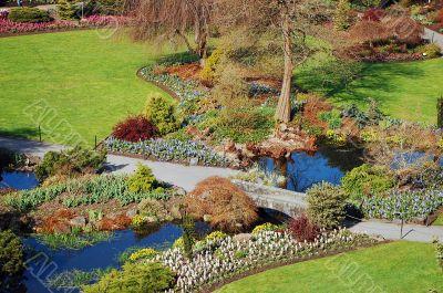 Garden park in early spring