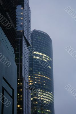 Moscow City business center towers