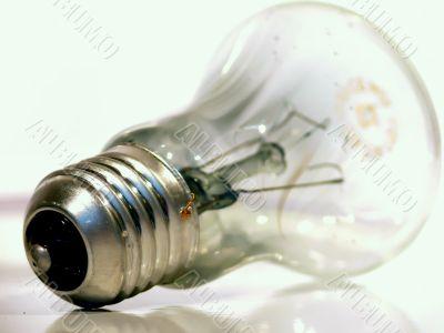 The burned-out light bulb.