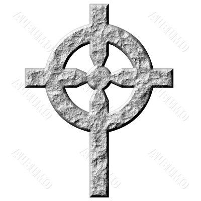 3D Stone Celtic Cross