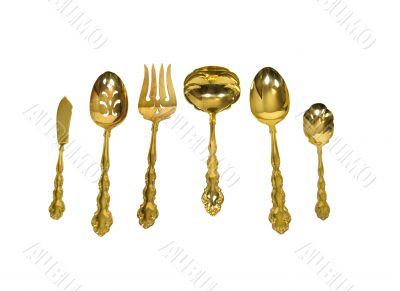 Goldware for a Luxurious table