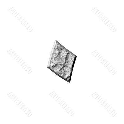 3D Stone Arab Number 0