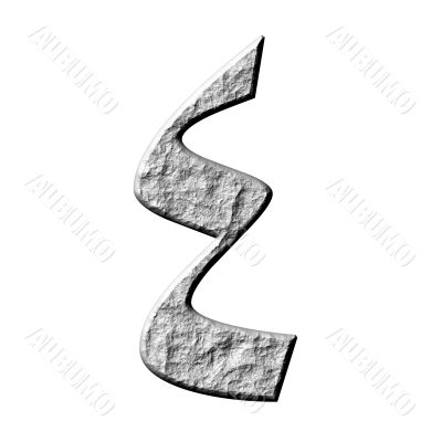 3D Stone Arab Number 4