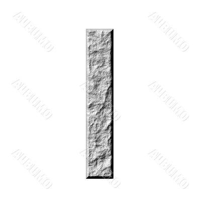 3D Stone Hebrew Number 6