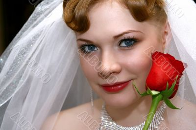 Bride with a rose