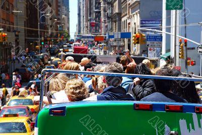 New York City  crowded street