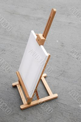Easel with blank canvas