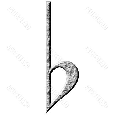 3D Stone Flat Symbol