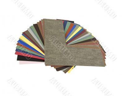 Matboard sample corners