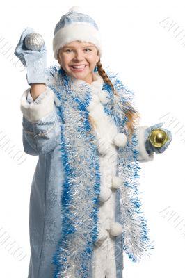 laughing snow girl