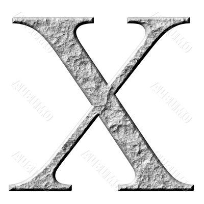 3D Stone Greek Letter Chi