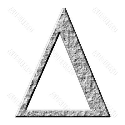 3D Stone Greek Letter Delta