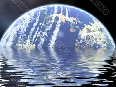 Raster illustration of Space.