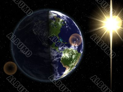 Day & night sides of Earth