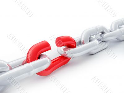 Red link in a chain