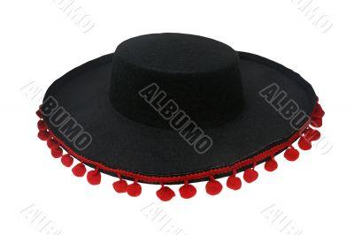 Black sombrero mexicano isolated