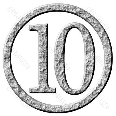 3D Stone Framed Number 10