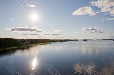 calm lake landscape