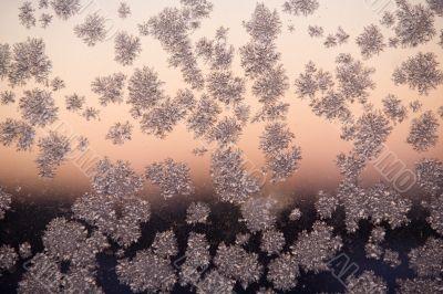 frosty pattern on window glass
