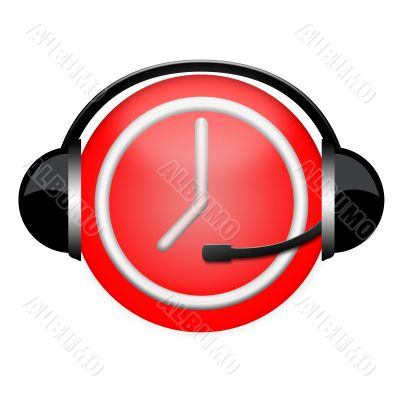 time headphone sign