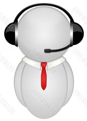 body tie headphone sign