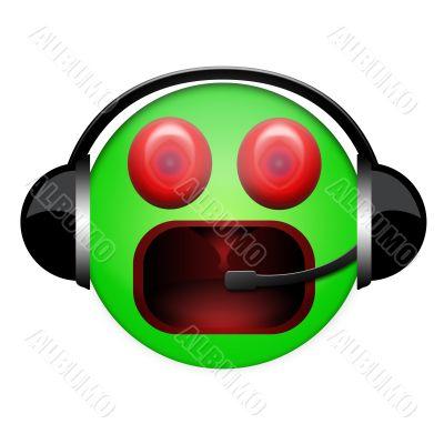 cry headphone sign
