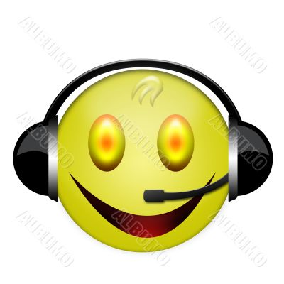 smile headphone sign