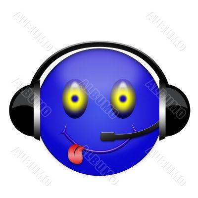 smile headphones sign